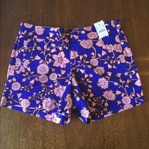 J. CREW City Fit Chino Floral Short NWT Sz.4